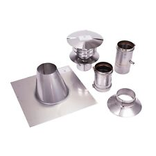 """4"""" Vertical Stainless Steel Z-Vent Water Heater Vent Kit"""