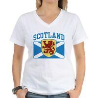 CafePress Scotland Women's V Neck T Shirt V-Neck T-Shirt (443837078)