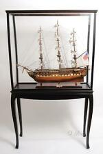 Floor Display Case For Model Ships Size L: 40 W: 13.75 H: 69 Inches