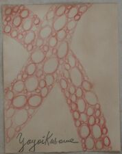 Pencil drawing signed YAYOI KUSAMA