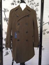 NWT $895 Hickey By Hickey Freeman Lined Wax Cotton Top Coat Olive Sz 44R