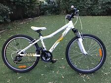 "Girls White Mongoose Rockadile Mountain Bike 24"" Excursion All Terrain Bike"