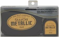 StazOn Solvent Ink Pad and Inker METALLIC GOLD SZ-000-191 Tsukineko Brand NEW!