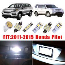 18X White LED Interior Dome License Lights Package Kit For 2011-2015 Honda Pilot