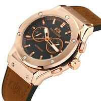 Paulareis Men's Automatic Mechanical Watch Homage Leather/Rubber Strap Calendar