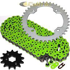 Green O-Ring Drive Chain & Sprockets Kit Fits YAMAHA WARRIOR 350 YFM350X 1987 88