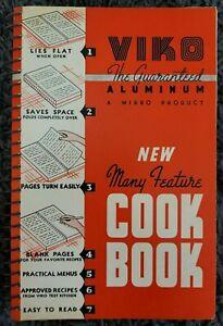 VINTAGE SPIRAL COOKBOOK VIKO ALUMINUM WI COOKBOOK 1939 LOCAL RECIPES COOK BOOK