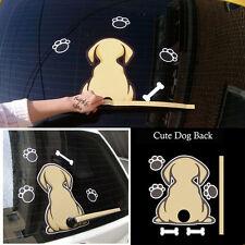 Cartoon Car SUV Rear Windshield Decor Reflective Sticker Dog With Wagging Tail