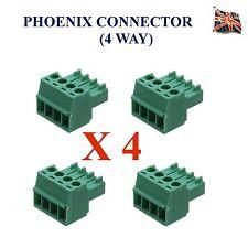 4 lotti di 4 PIN Phoenix Combicon Connettore MC AUDIO PROFESSIONALE 4 VIE UK STOCK