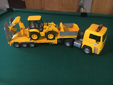 Bruder MAN Low loader Toy Truck with JCB Backhoe NEW without box