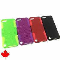 """iPod Touch 5 5th Gen Generation Mesh Hybrid Hard Soft Silicone Case 4.86"""""""
