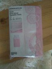 NEW Ikea Vanskaplig Pink Twin Duvet Cover Love & Peace Butterflies Boho Flowers