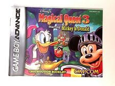 Disney's Magical Quest 3 NINTENDO GAMEBOY ADVANCE GBA Instruction Manual Booklet