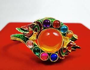 Bracelet Naga Gems Dragon 9 Colors Talisman Bangle Vintage Thai Buddha Amulet
