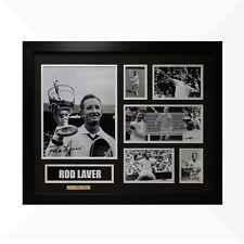 Rod Laver Signed & Framed Memorabilia - Black/Silver Limited Edition - Tennis