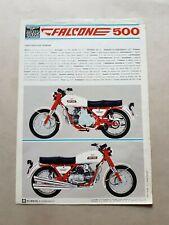 MOTO GUZZI  Nuovo Falcone 500 1971 depliant originale motorcycle brochure