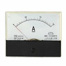 Analog 0-75A DC Current Panel Ampere Meter Guage 44C2 with Car Cleaning Cloth