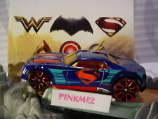 2018 JUSTICE LEAGUE Design SUPERMAN ☆ BULLY GOAT☆blue/red☆LOOSE Hot Wheels✰DC