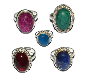 Variation Ring Full Size Silver Plated Other Gemstone Silver Jewelry RVG11