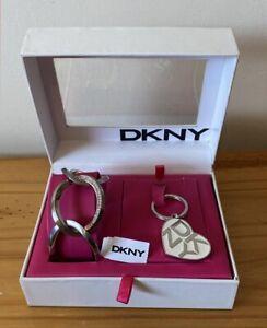 DKNY Silver Stainless Steel Bracelet & Heart Shape Keyring / Key Charm