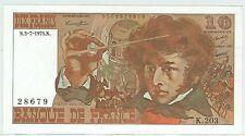 BILLET 10 FRANCS BERLIOZ N 3 7 1975 N 28679 K 203