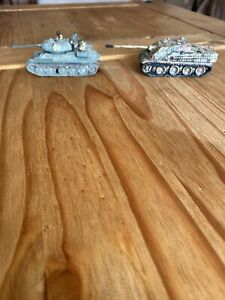 T 34 And Geman Panpher Tank