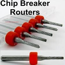 180mm 071 Chip Breaker Router 5 Pcs Bits Drill Point 18 Shaft Cnc Urc170