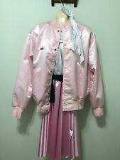 50's Rubies Woman Retro Complete Costume With Vintage Sport/Bomber Pink Jacket