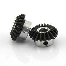 2x Bevel gear 20 teeth helical gear  Bevel gear 90° drive steering 8mm hole DIY