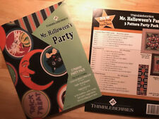 RARE! Thimbleberries MR. HALLOWEEN'S PARTY - Pack of 3 Patterns & Party Ideas