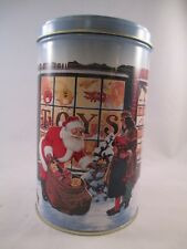 M&M tall round Tin ~ Christmas ~ Mars inc.