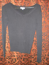 Cherokee, woman's black long sleeved wide-neck sweater, size S