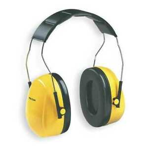 3M 08091 Over-The-Head Ear Muffs, 25 Db, Peltor Optime 98, Yellow