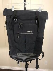 Thule $130 Paramount Black 24L Roll Top Laptop Pad Waterproof Bike Backpack Bag