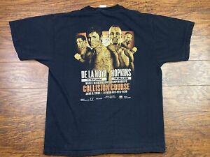 Vintage Oscar De la Hoya Vs Hopkins T Shirt XL 2004 MGM Las Vegas Boxing Kk