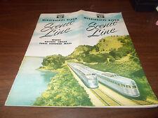 1951 Burlington Route Miss. River Line 16-page Travel Brochure / Great Covers !!