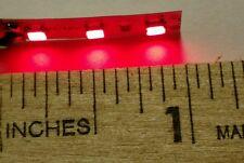 "Mini 1"" Red LED strips for Woodland Scenics JP 5700 Just Plug light hub, 2/set"