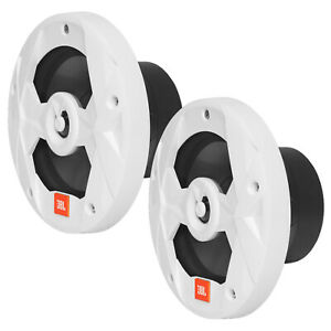 "2x JBL Club Marine 8"" 2-Way Marine Audio Multi-Element White Speakers Bundle"