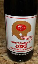 1984 SAN FRANCISCO 49ERS SUPER BOWL XIX COCA COLA COKE 7-11 BOTTLE UNOPENED
