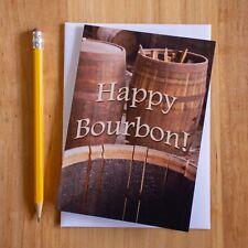 Handmade Bourbon Birthday Card - Happy Bourbon - Funny Greeting Card FREE SHIP