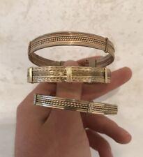 3 X Fine Vintage Gold Plated Bangles.