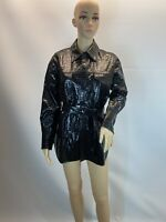 ZARA  Faux Leather Animal Print Bomber Shirt Jacket Bloggers Size XS-S-M-L