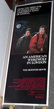 AN AMERICAN WEREWOLF IN LONDON original ROLLED 14x36 insert movie poster