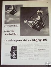 1945 vintage photography Ad Argus Argo-flex Camera child on swing
