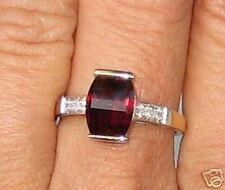 10K Gold Rhodolite Garnet & Diamond Ring Size 7