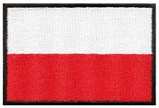 National flag of Poland Polish Central Europe applique iron-on patch new S-900