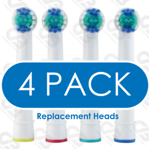 Electric Toothbrush Heads Compatible With Oral B Braun Replacement Head 4 PACK