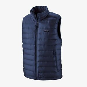 Mens Patagonia Down Sweater Vest Navy Blue Size M **BRAND NEW**