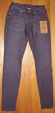 $180 TRUE RELIGION SHANNON BLACKBERRY MIDRISE SKINNY FIT CORDUROY JEANS SZ 24
