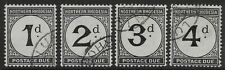 NORTHERN RHODESIA SGD1/4 1929 POSTAGE DUE SET FINE USED